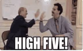 Borat High Five GIF - Borat HighFive - Discover & Share GIFs